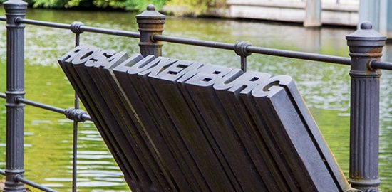⑥ローザ・ルクセンブルクのための記念碑